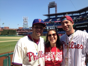 The 3 of us from this summer at a Phillies Game!