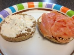 Smoked Salmon & Cream Cheese on a Whole Wheat English Muffin