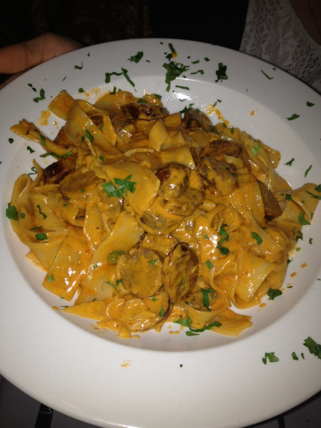 Papardelle and Sausage