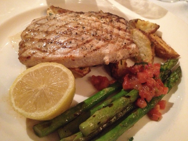 Swordfish with Roasted Potatoes and Grilled Asparagus