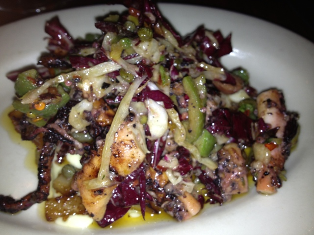 Octopus Antipasti- one of my favorite dishes of the night.
