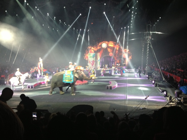 Dave and I went to the Circus for Valentine's Day!