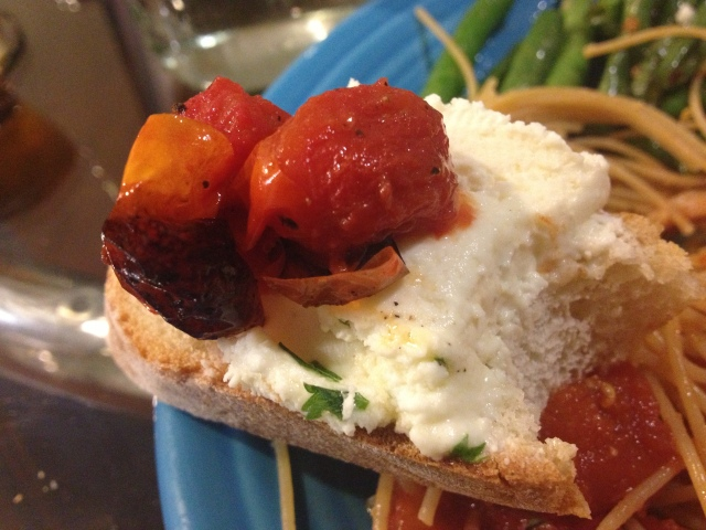 The whipped feta and roasted grape tomatoes were an A+ combination.