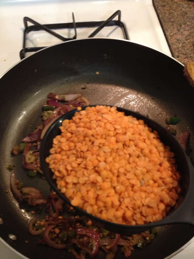 Adding in some yummy Lentils