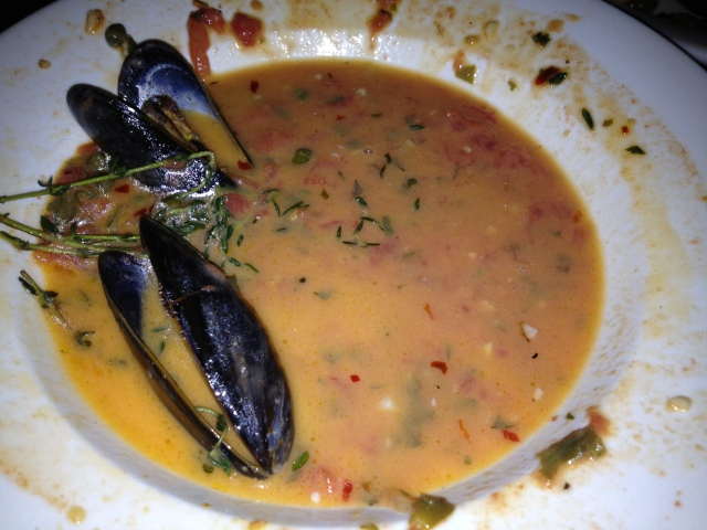 We nearly fought over the broth from the mussels... wow!