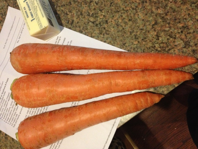 Three Carrots = 2lbs?!  I got these babies at the Italian Market for $1 :)