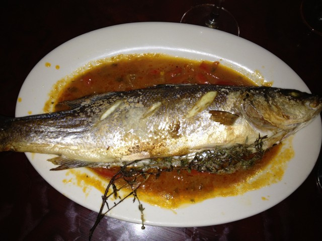 Pesce Arrosto: Whole Roasted Branzino