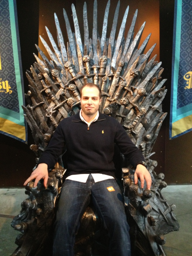 Dave's replaced King Geoffrey in the Game of Thrones in the fantasy section of the EMP Museum.