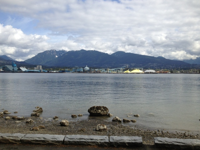 The view from our run in Vancouver.  Absolutely gorgeous!  Worth torturing myself for a few miles while on vacation...