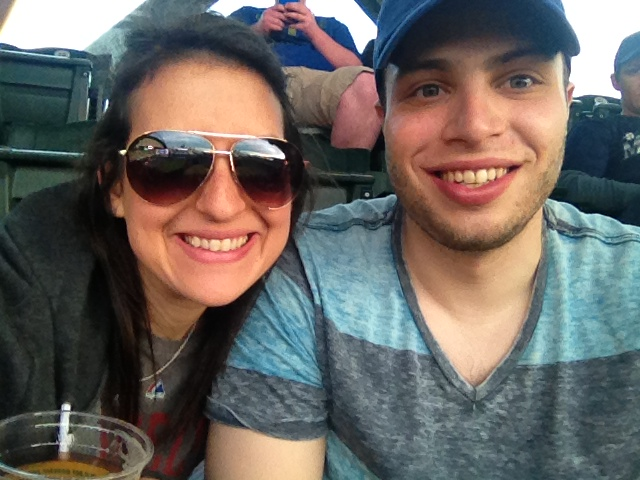 Enjoying the baseball game