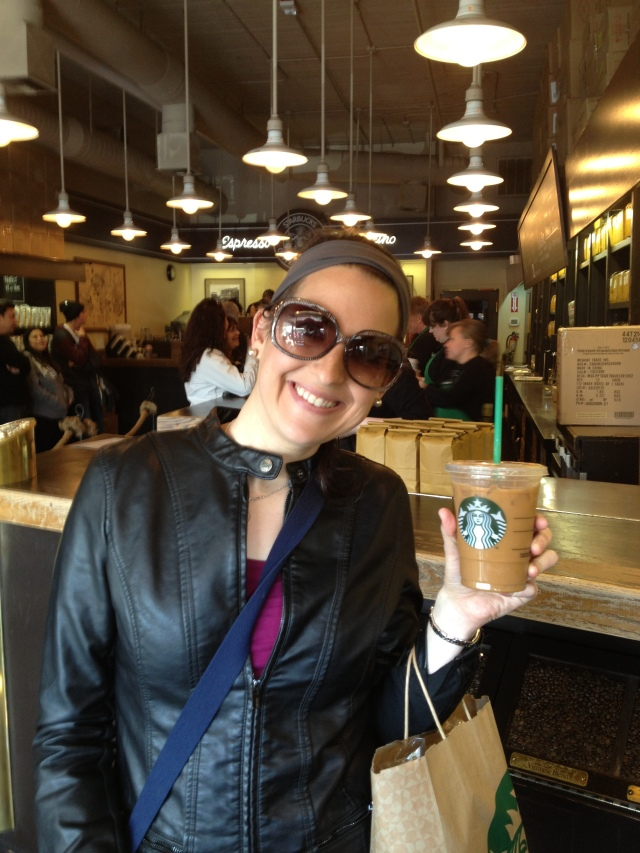 Happy to be in the very first Starbucks.