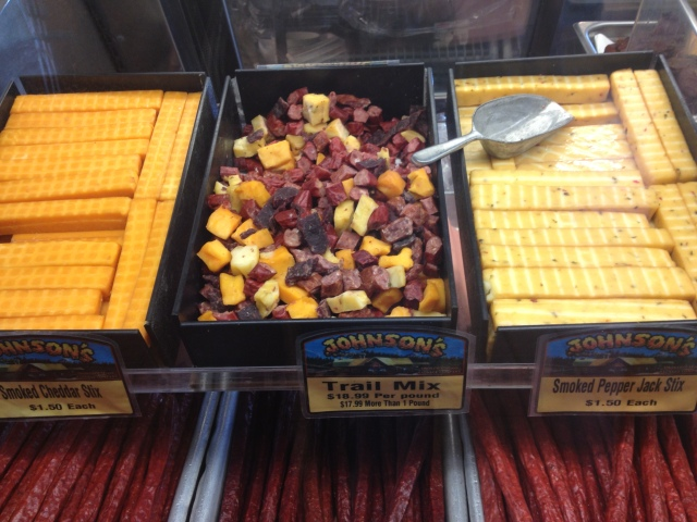 "Smoked Cheese Sticks & ""Trail Mix"" ... nom nom"