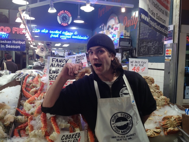 I wish I could have gone shopping at the market!  Check out the size of that shrimp...