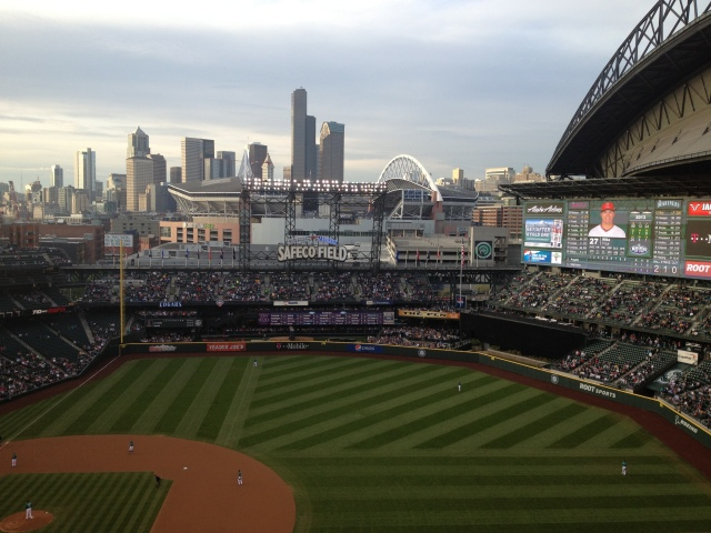Pretty view from the ballpark.