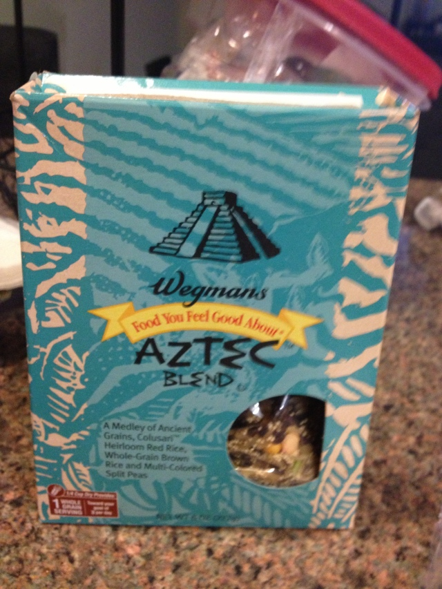 I really like Wegman's Ancient Grains blends.  They are hearty, healthy, and more interesting than boring old brown rice :)