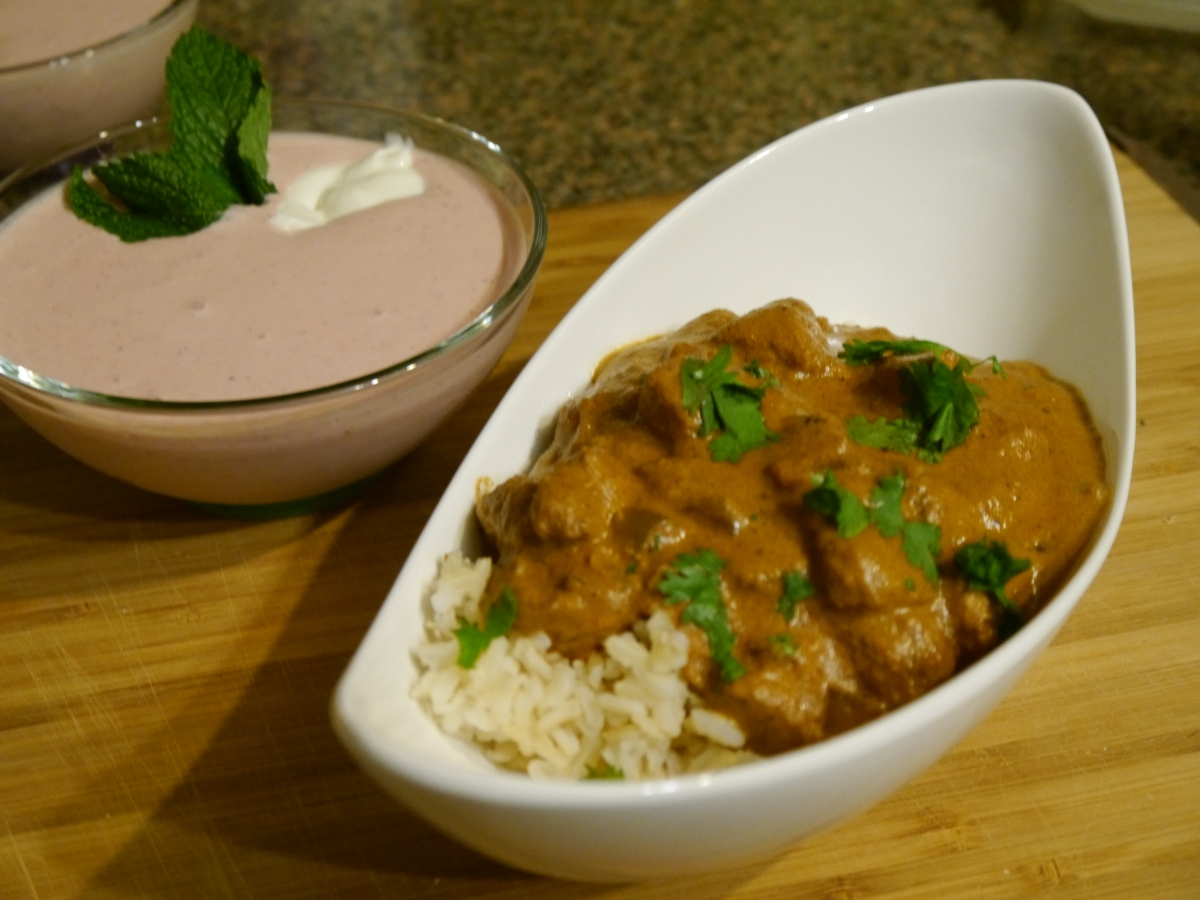 Slow Cooker Chicken Tikka Masala & Chilled Strawberry Soup: SRC September