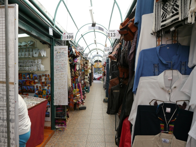 Mercado Artesenal La Mariscal- there were about 10 aisles this long with tons of crafts.