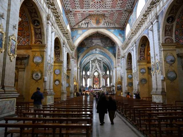 We got to go inside a beautiful church in Plaza Grande in old city Quito
