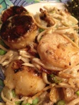 Seared Scallops & Shrimp w/ Creamy Linguine