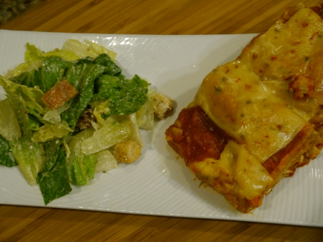 Served these babies with a plate full of Ceasar Salad- the creamy dressing was a nice compliment to the spicy sauce.