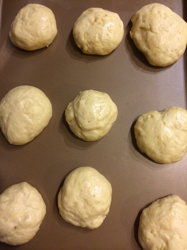 Rolls are a little bigger now and ready to bake!