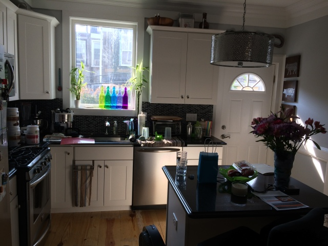 A pretty picture of my kitchen, where I did all this hard work :)