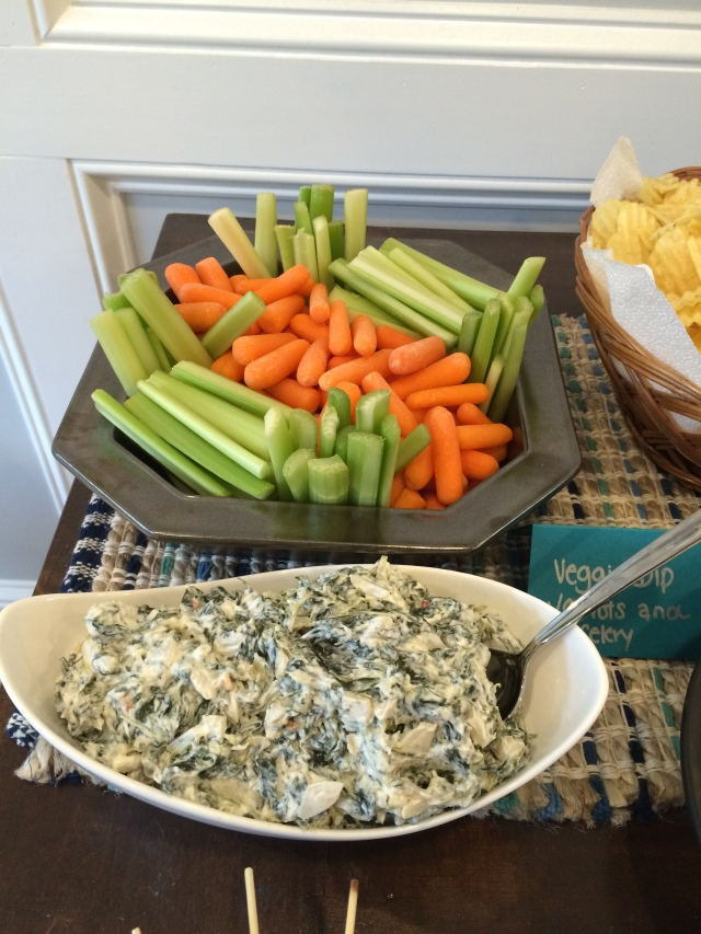 Spinach Dip and vegg