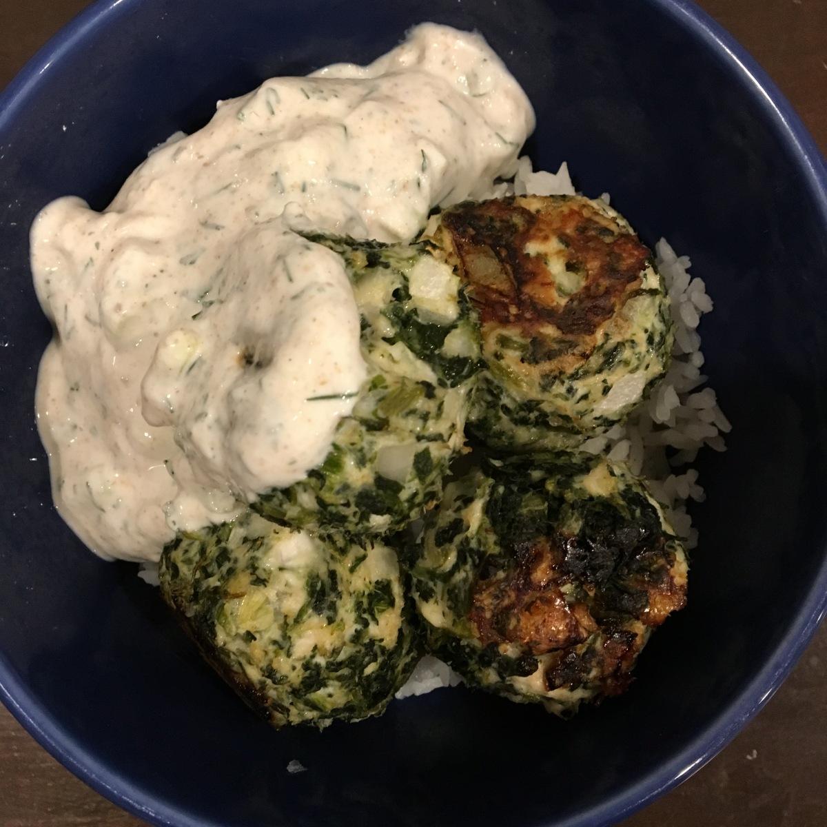 Spanikopita Chicken Meatballs